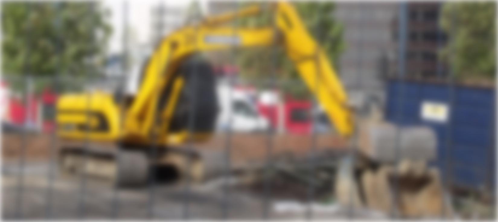 image d'une pelle sur un chantier